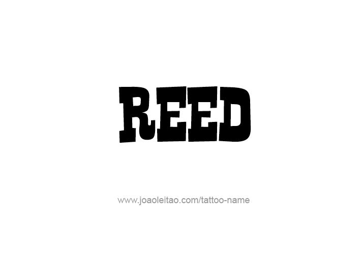 Tattoo Design  Name Reed