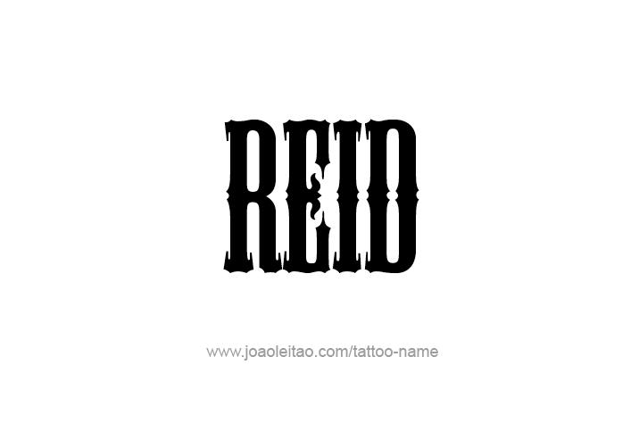 Tattoo Design  Name Reid