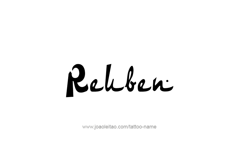 Tattoo Design  Name Reuben