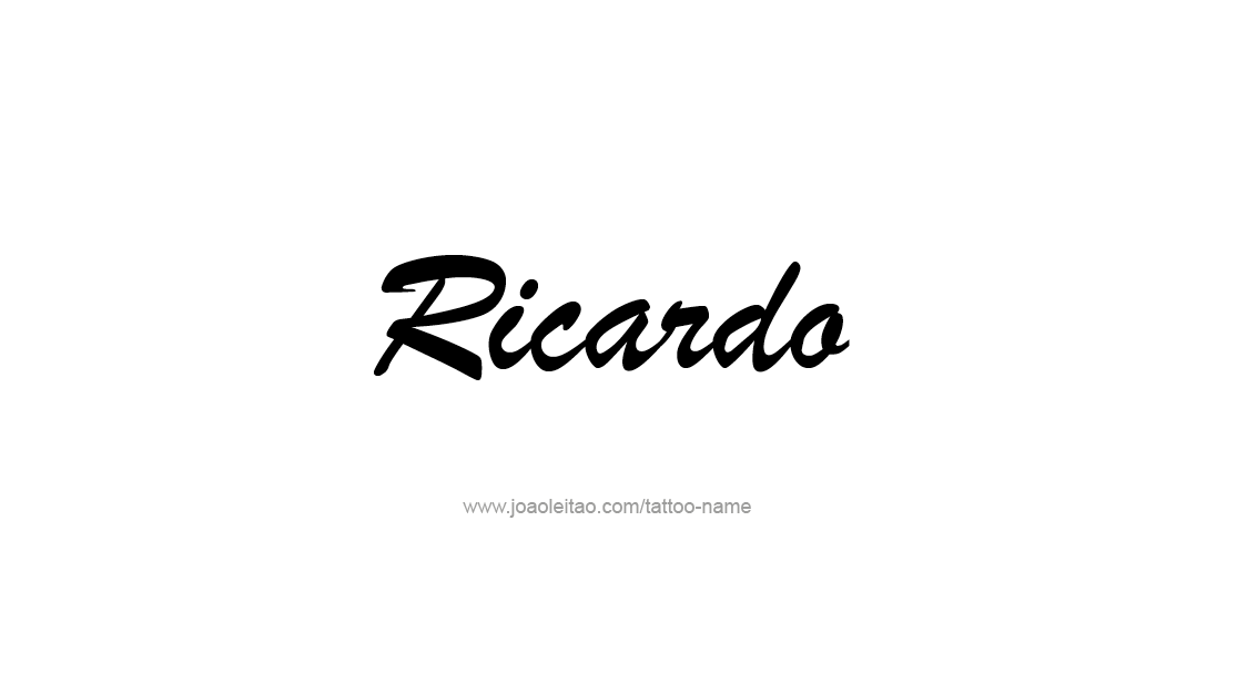 Tattoo Design  Name Ricardo
