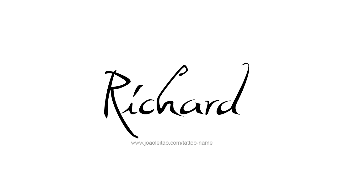 Tattoo Design  Name Richard