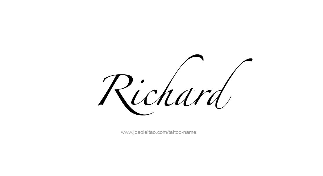 Richard Name Tattoo Designs