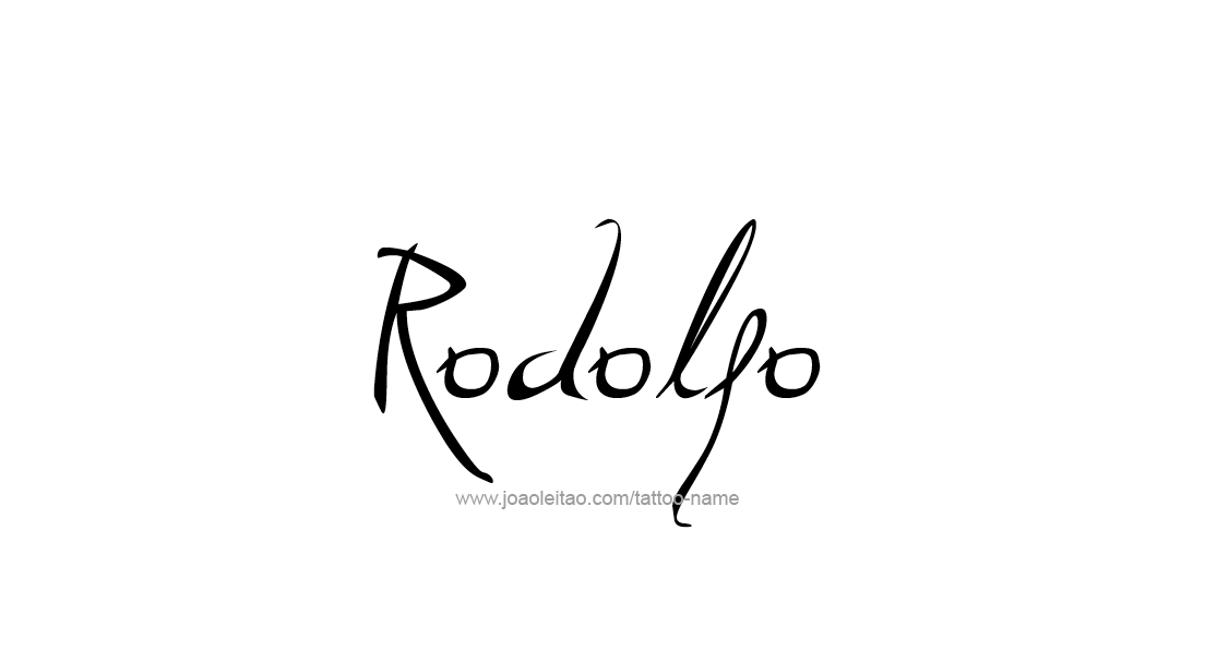 Tattoo Design  Name Rodolfo