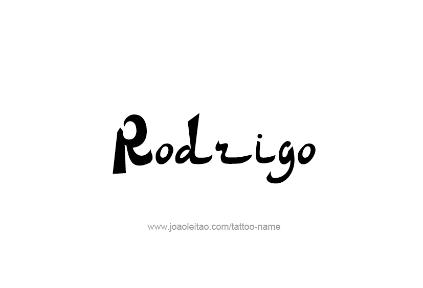 Tattoo Design  Name Rodrigo
