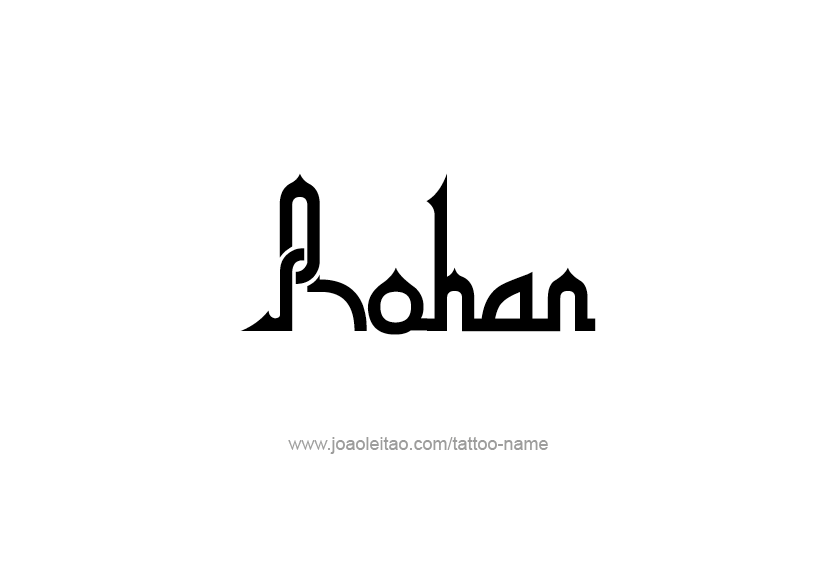 Tattoo Design  Name Rohan