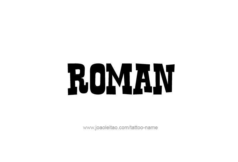 Roman Name Tattoo Designs