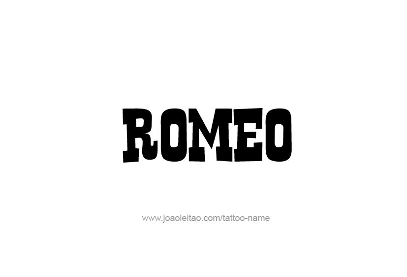 Tattoo Design  Name Romeo