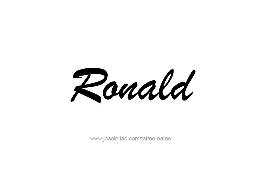 Tattoo Design  Name Ronald