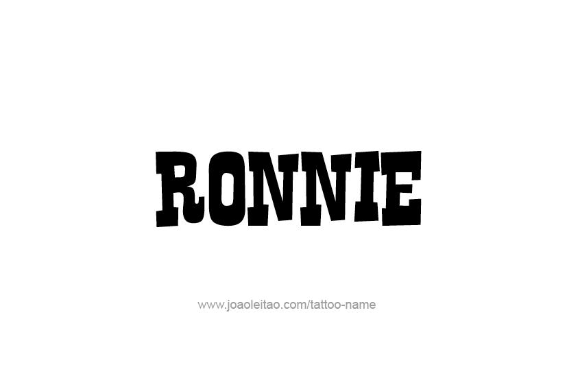 Tattoo Design  Name Ronnie