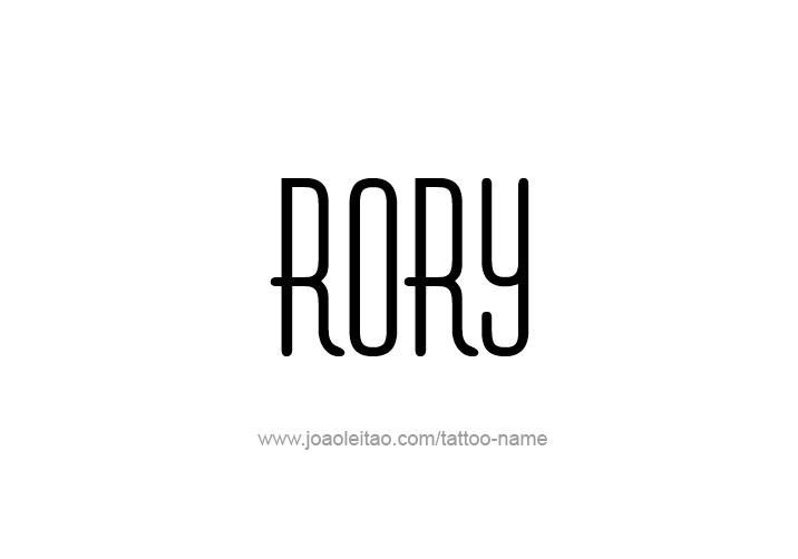 Tattoo Design  Name Rory