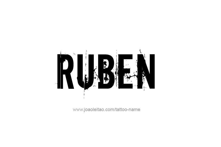 Tattoo Design  Name Ruben