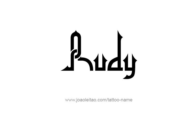 Tattoo Design  Name Rudy