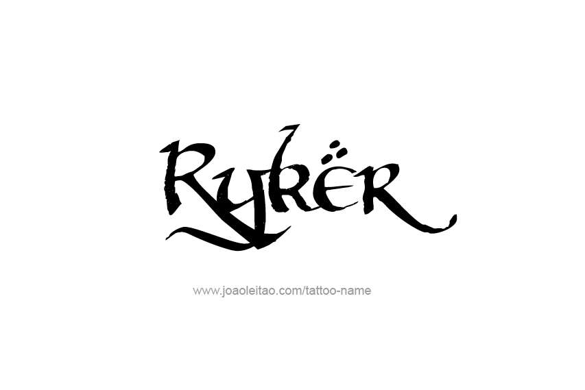 Tattoo Design  Name Ryker