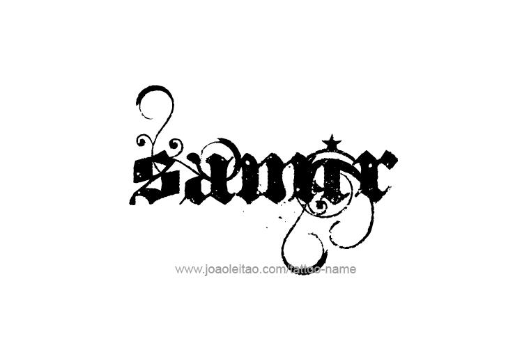 Tattoo Design  Name Samir