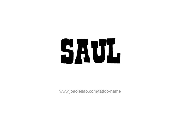 Tattoo Design  Name Saul