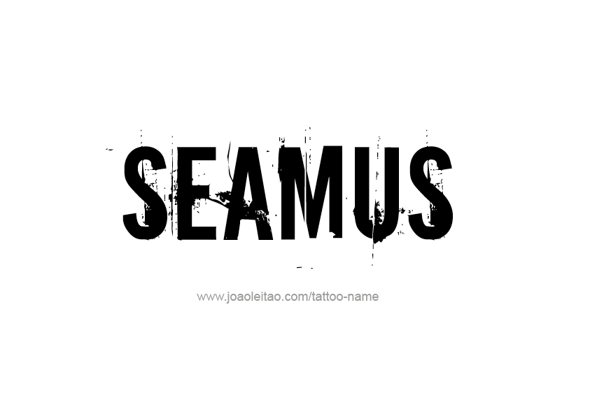 Tattoo Design  Name Seamus