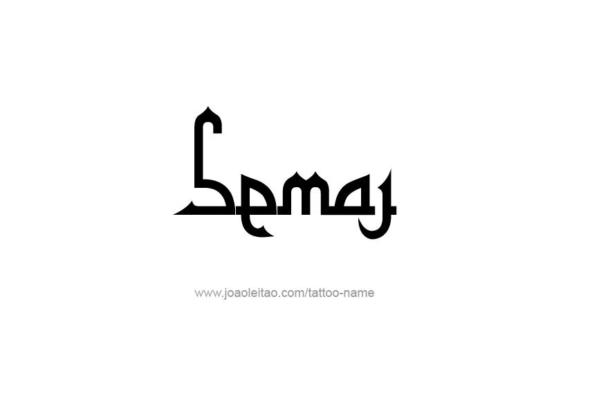 Tattoo Design  Name Semaj