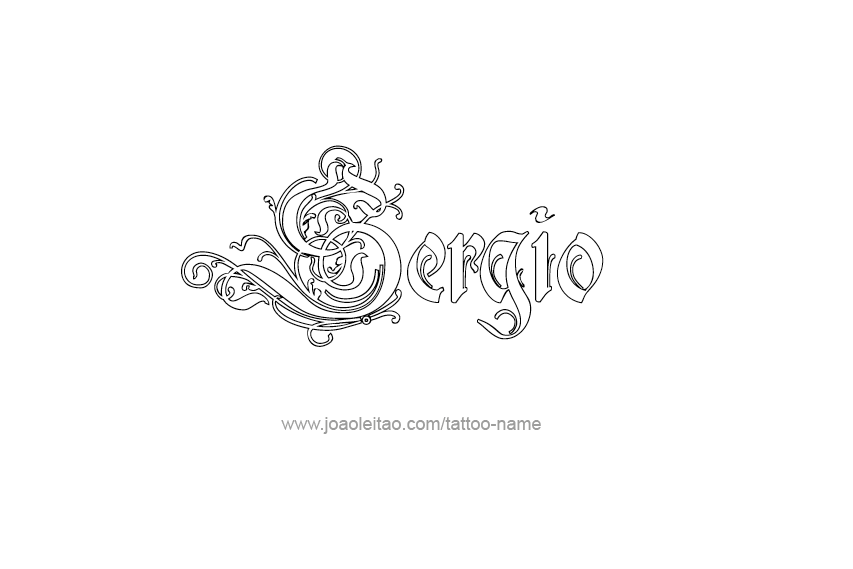 Tattoo Design  Name Sergio