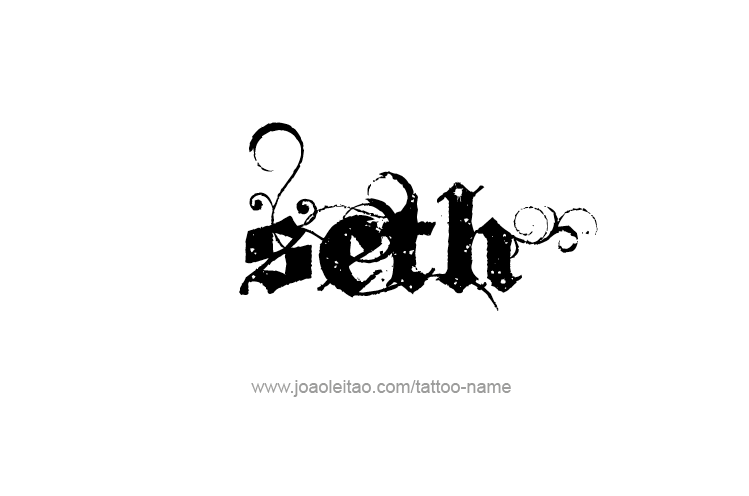 Tattoo Design  Name Seth