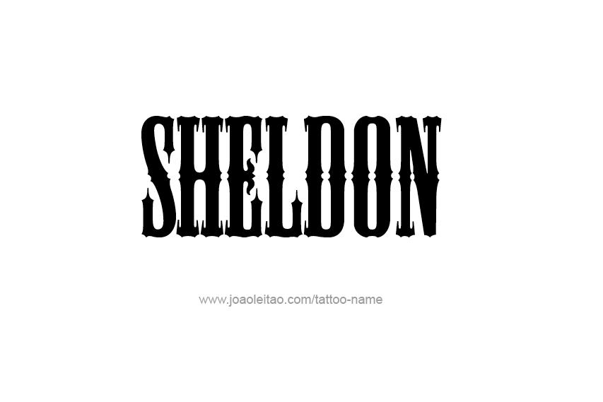 Tattoo Design  Name Sheldon