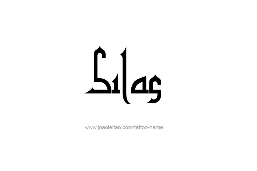 Tattoo Design  Name Silas