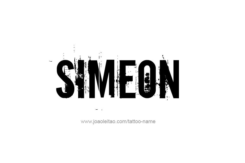 Tattoo Design  Name Simeon