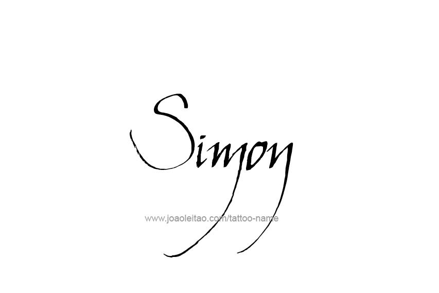 Tattoo Design  Name Simon