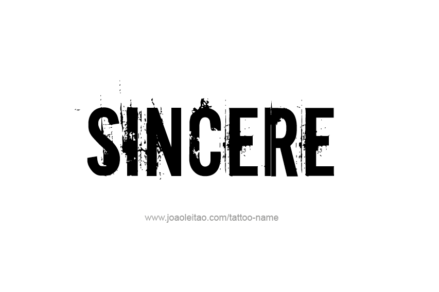 Tattoo Design  Name Sincere