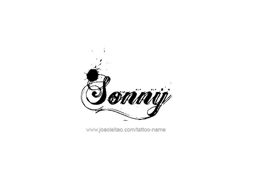 Tattoo Design  Name Sonny