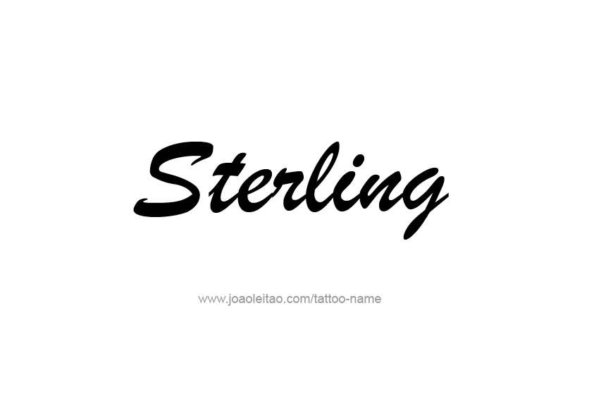 Tattoo Design  Name Sterling