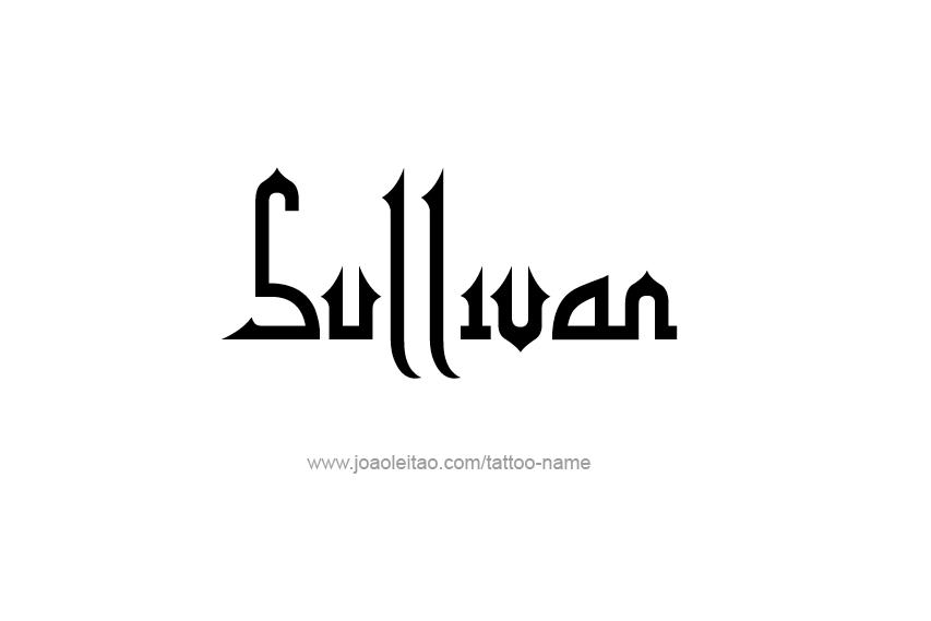 Tattoo Design  Name Sullivan