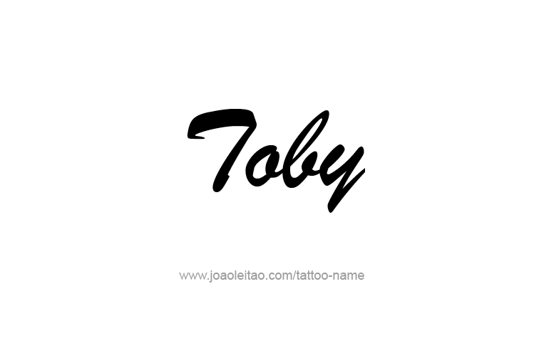Tattoo Design  Name Toby