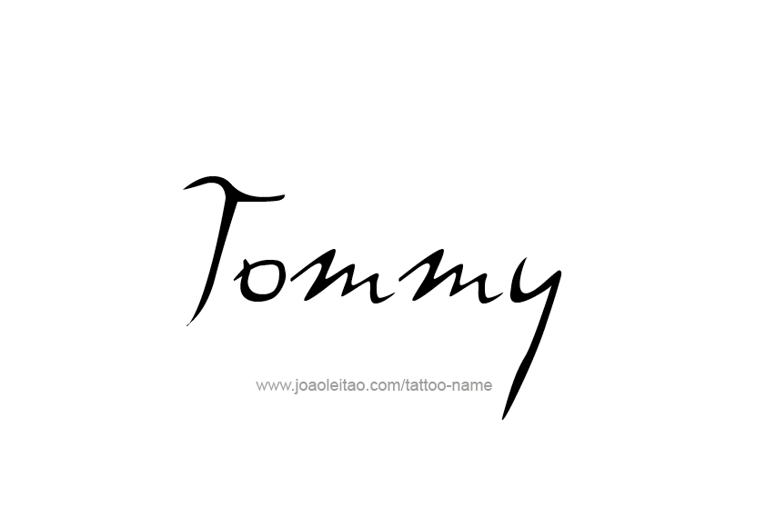 Tattoo Design  Name Tommy