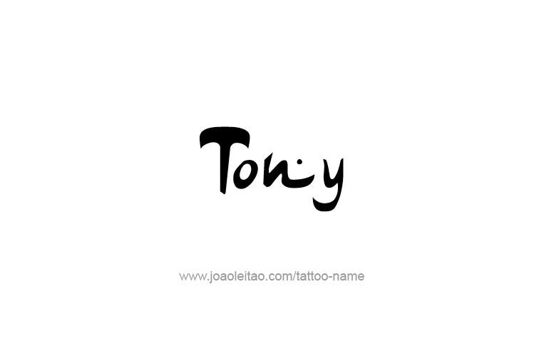 Tattoo Design  Name Tony