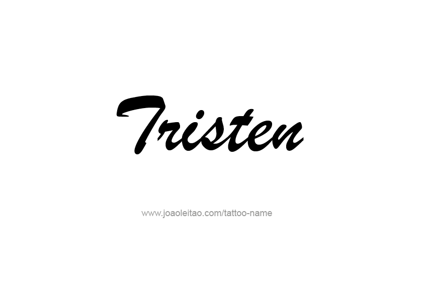 Tattoo Design  Name Tristen