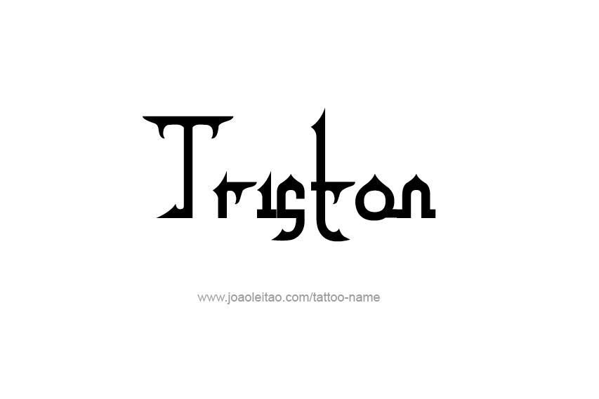 Tattoo Design  Name Triston