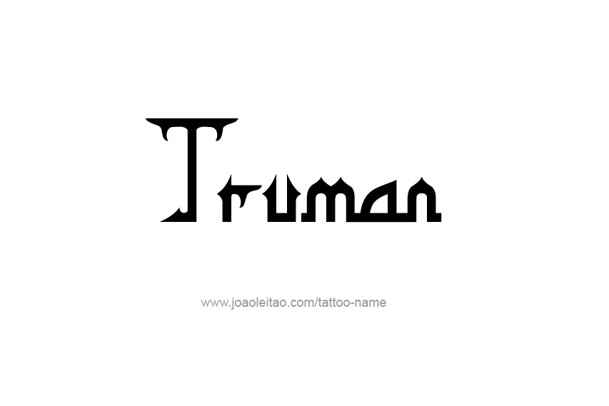Tattoo Design  Name Truman