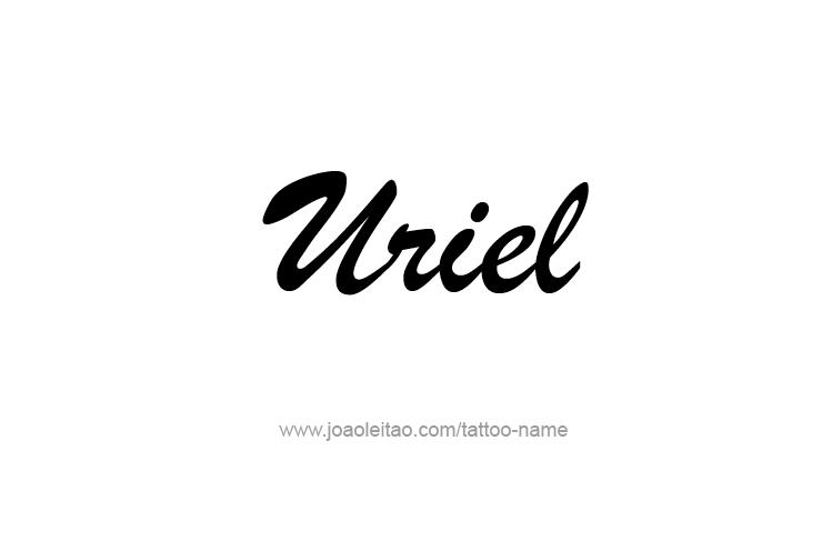 Tattoo Design  Name Uriel