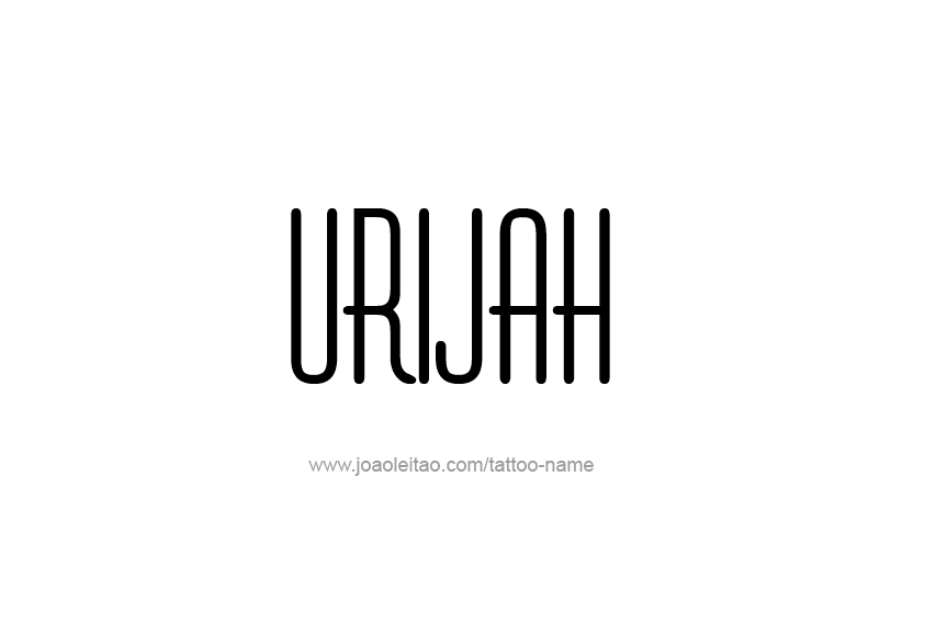 Tattoo Design  Name Urijah