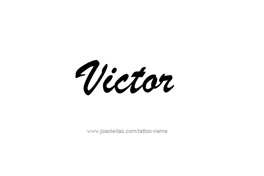 Tattoo Design  Name Victor
