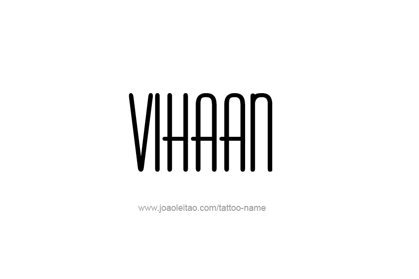 Tattoo Design  Name Vinhaan
