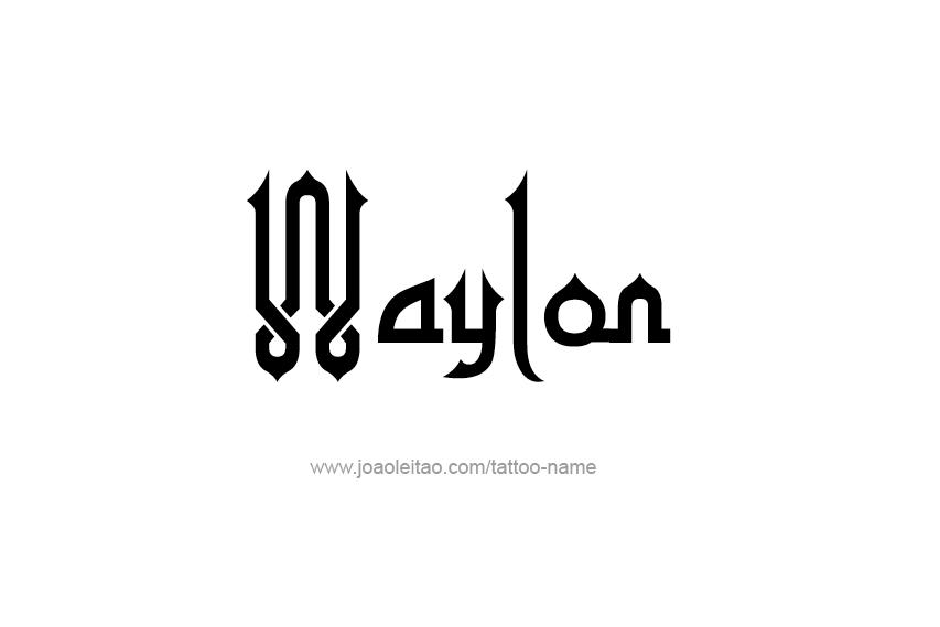 Tattoo Design  Name Waylon