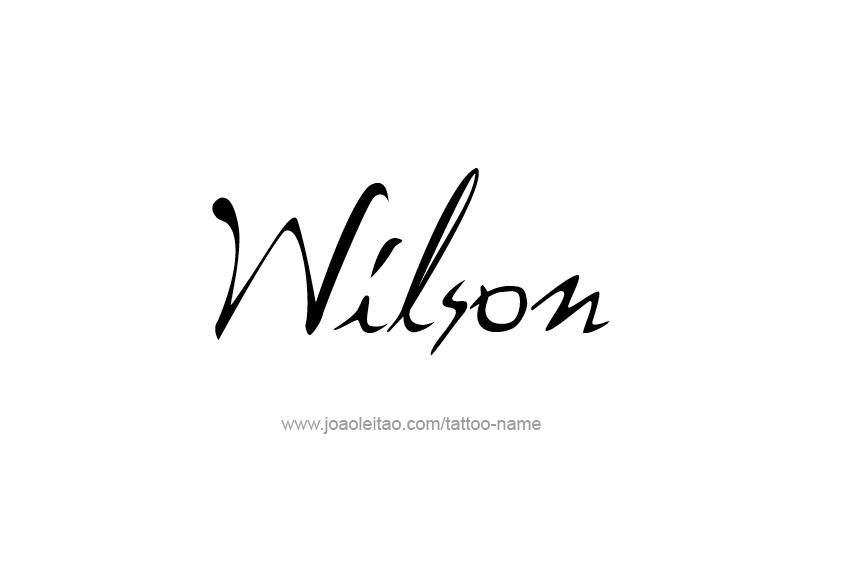 Tattoo Design  Name Wilson