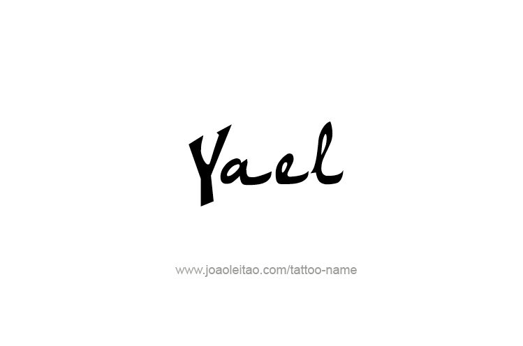 Tattoo Design  Name Yael