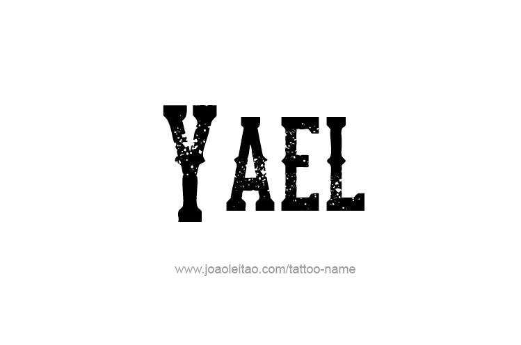 Tattoo Design  Name Yael