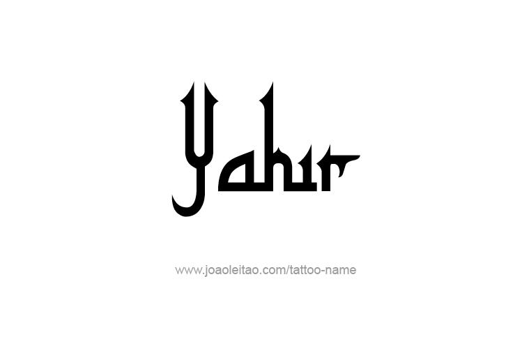 Tattoo Design  Name Yahir