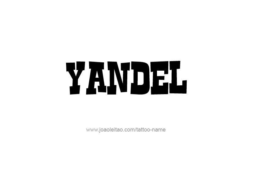Tattoo Design  Name Yandel
