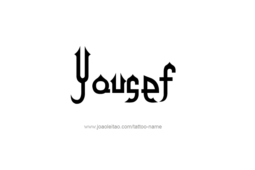 Tattoo Design  Name Yousef