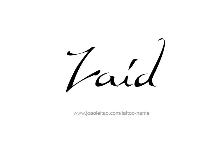 Zaid Name Tattoo Designs