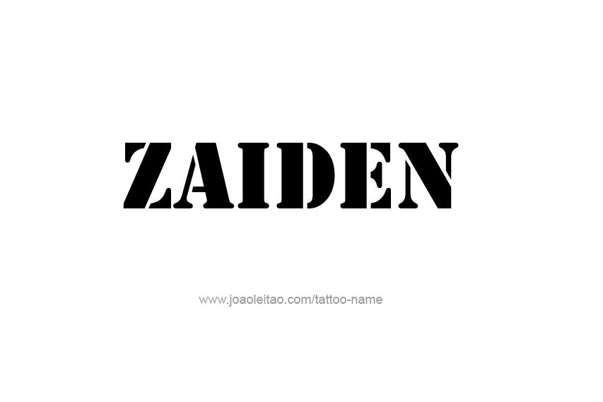 Tattoo Design  Name Zaiden